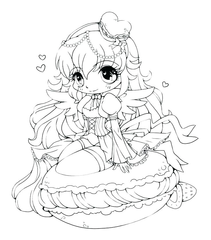 Anime Girl Coloring Pages To Print at GetDrawings.com | Free ...