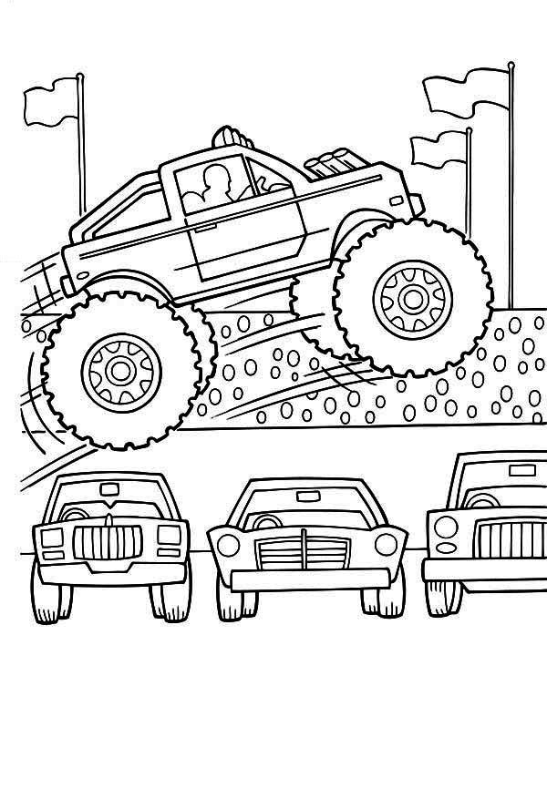 Free Printable Monster Truck Coloring Pages  Coloring Home