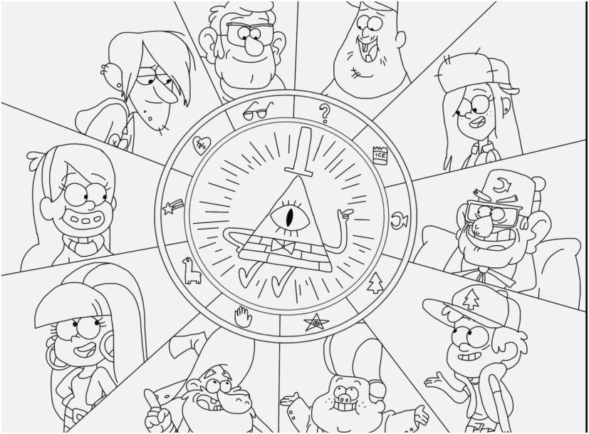 - Gravity Falls Coloring Pages - Coloring Home