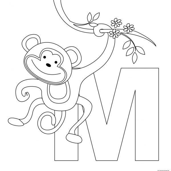 Letter M Coloring Pages - AZ Coloring Pages