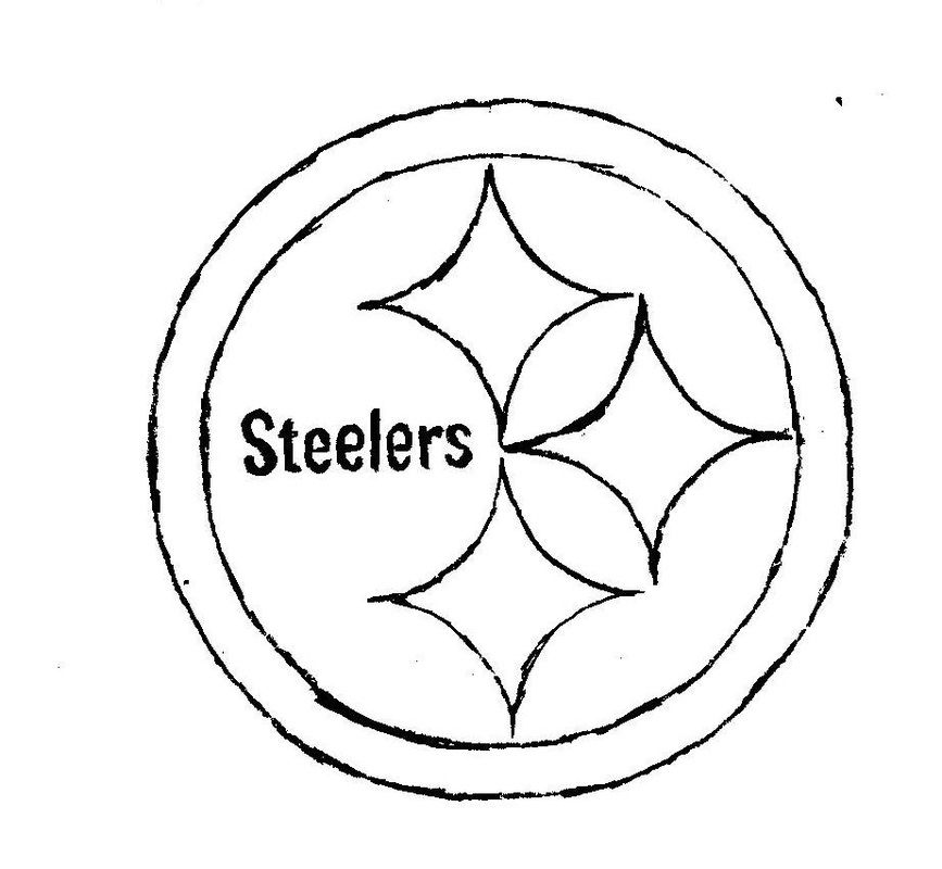 photo relating to Printable Steelers Logo called Pittsburgh Steelers Coloring Webpages - Coloring Dwelling