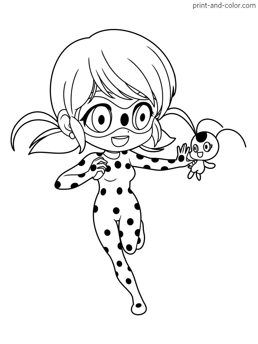 Miraculous: Tales of Ladybug & Cat Noir coloring pages | Print and ...
