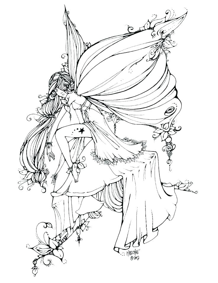 Fairy Coloring Pages For Adults - Best Coloring Pages For Kids - Coloring  Home