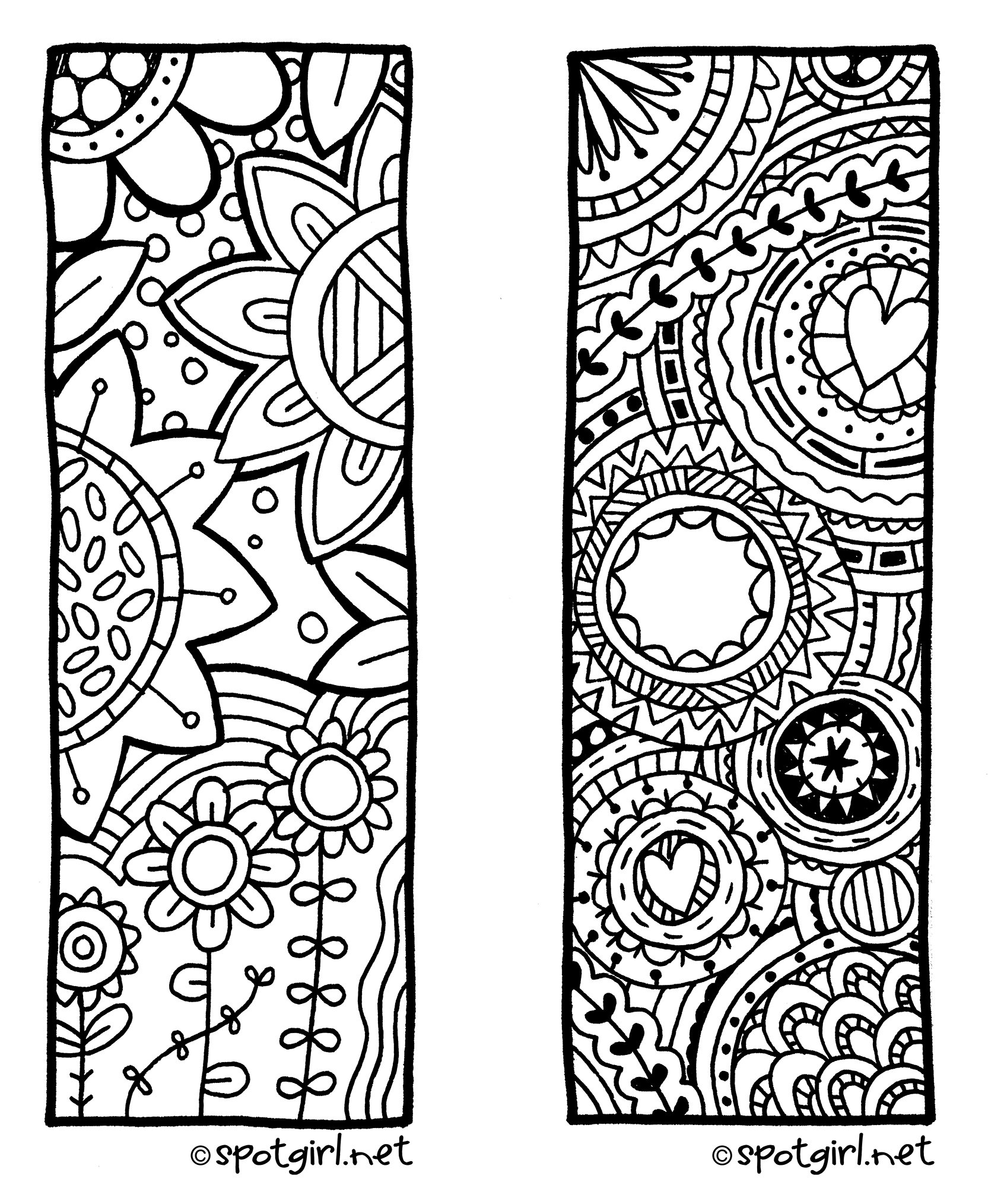 coloring pages bookmarks - photo#22