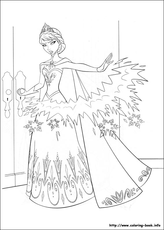 Frozen Coloring Pages On Coloring-Book.info - Coloring Home