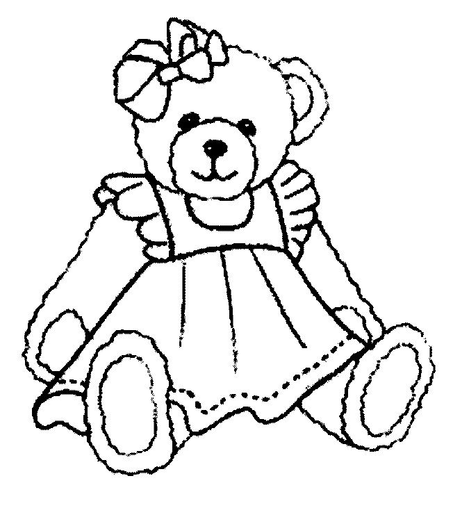 Cute Teddy Bear Coloring Pages - Coloring Home