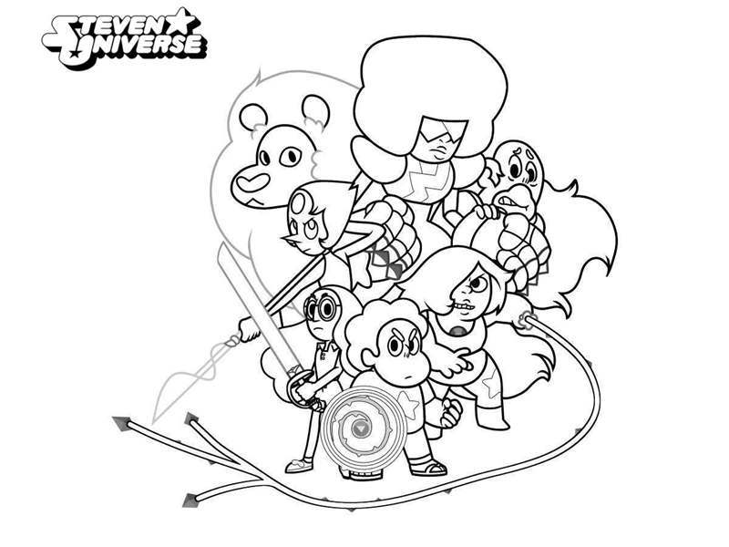 Steven Universe Coloring Pages Crystal Gems - Get Coloring Page
