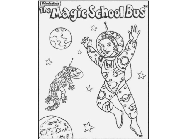magic school bus coloring page