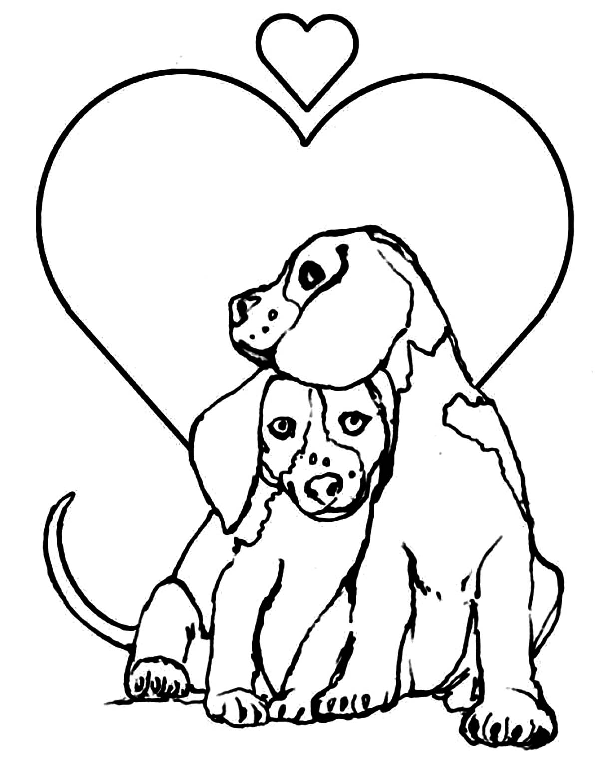 Dog for children : loving dogs - Dogs Kids Coloring Pages