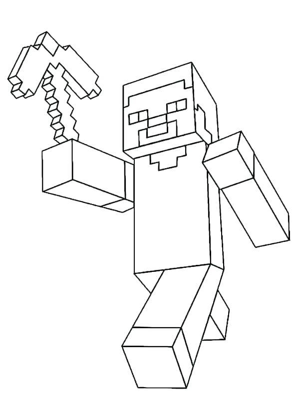 Minecraft Steve Coloring Pages - Coloring Home