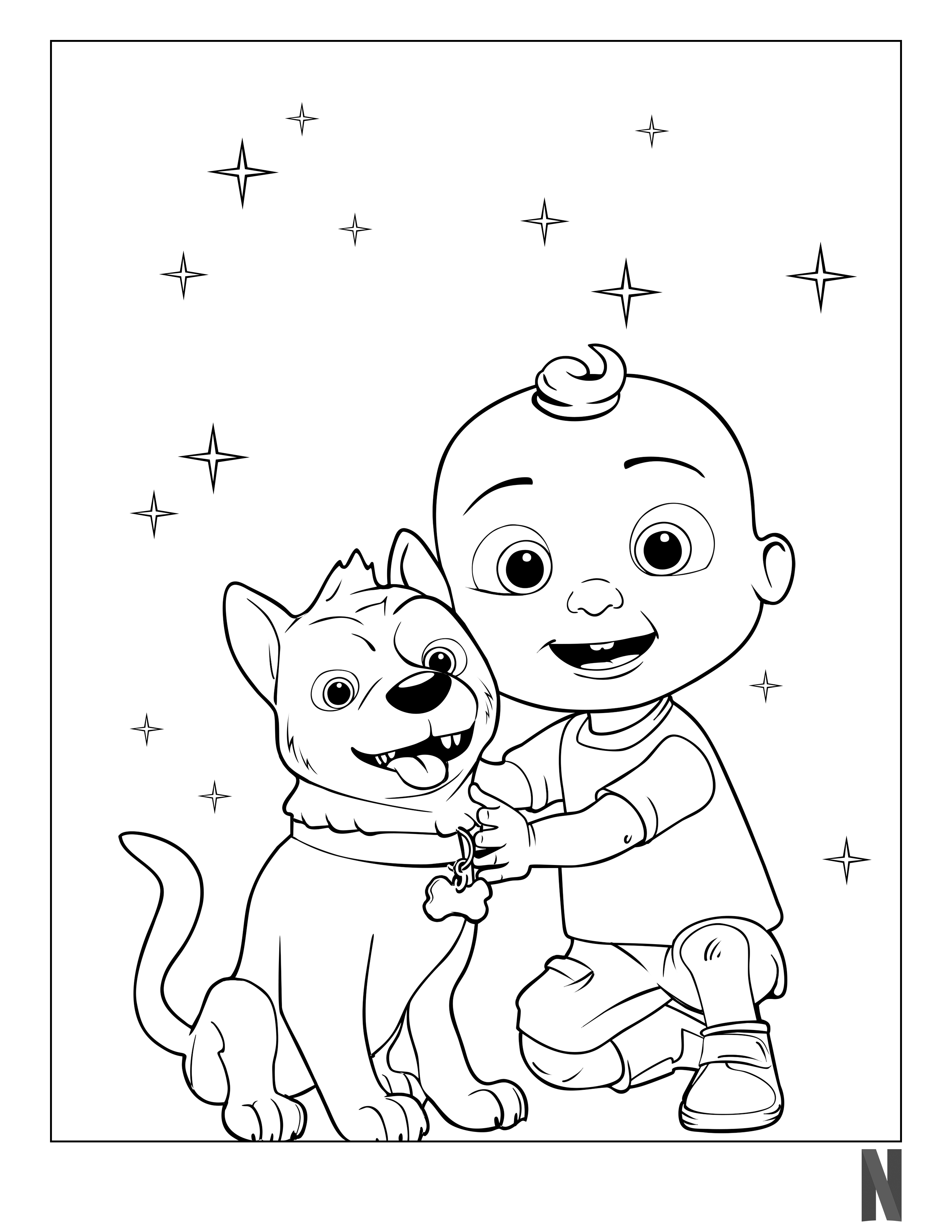 Cocomelon Coloring Page in 2020 | Coloring pages, Character, Print