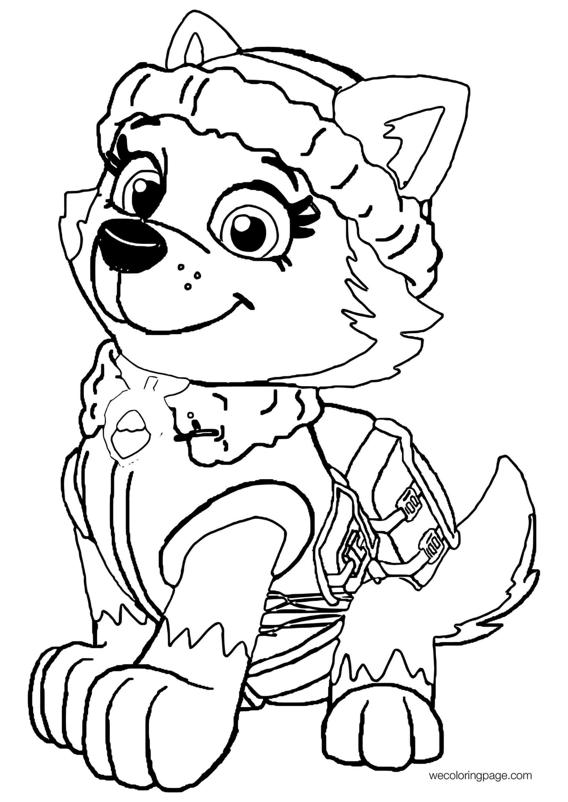 paw patrol everest coloring pages  coloring home