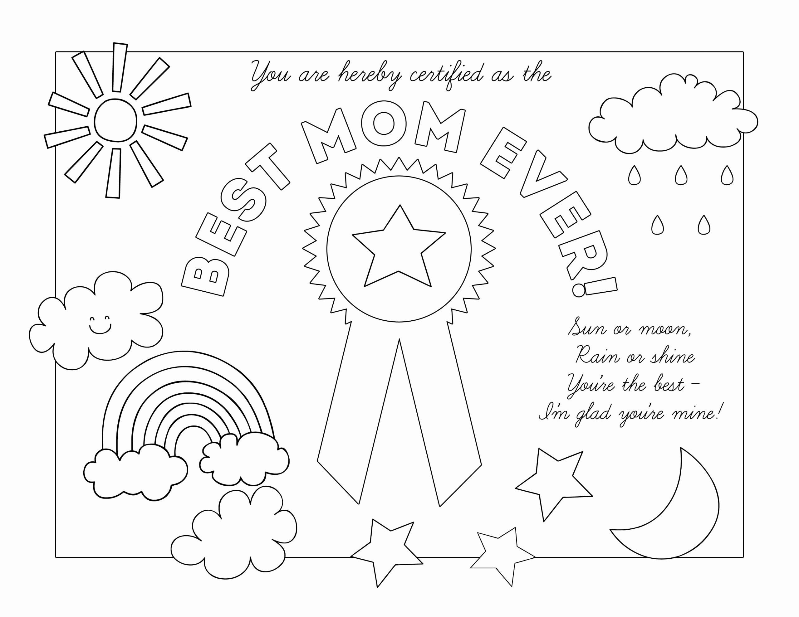 Best Mom Award Coloring Page (Page 1) - Line.17QQ.com