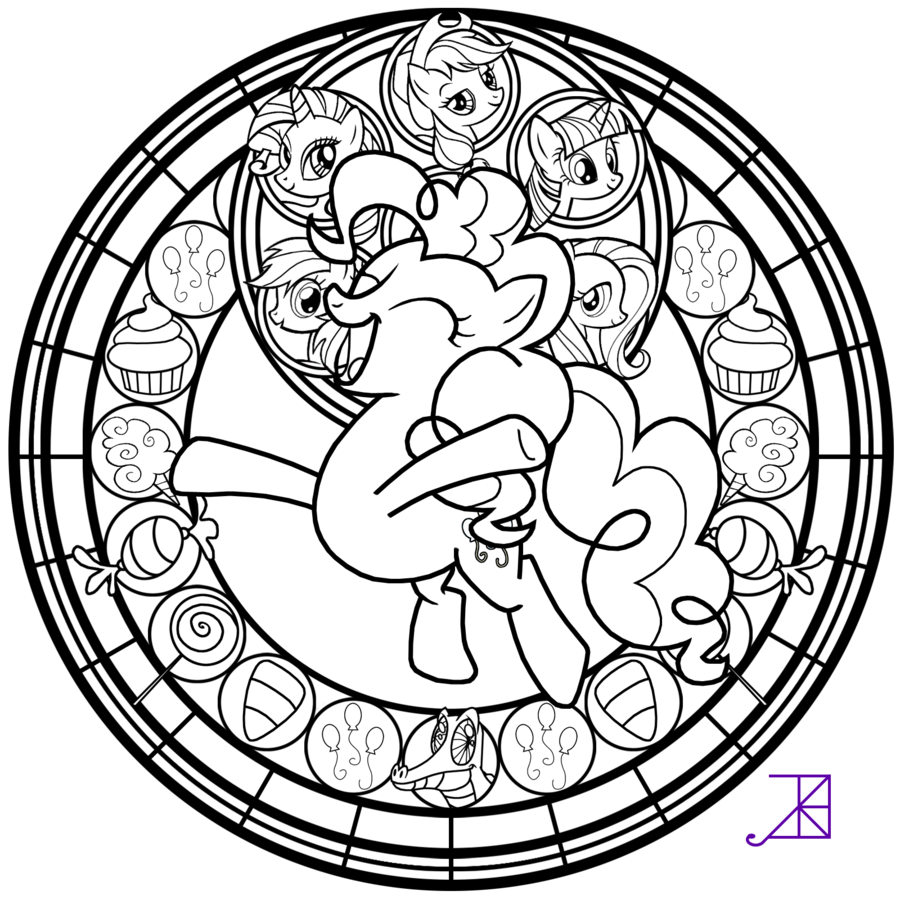 Pinkie Pie Coloring Page - Coloring Pages for Kids and for Adults