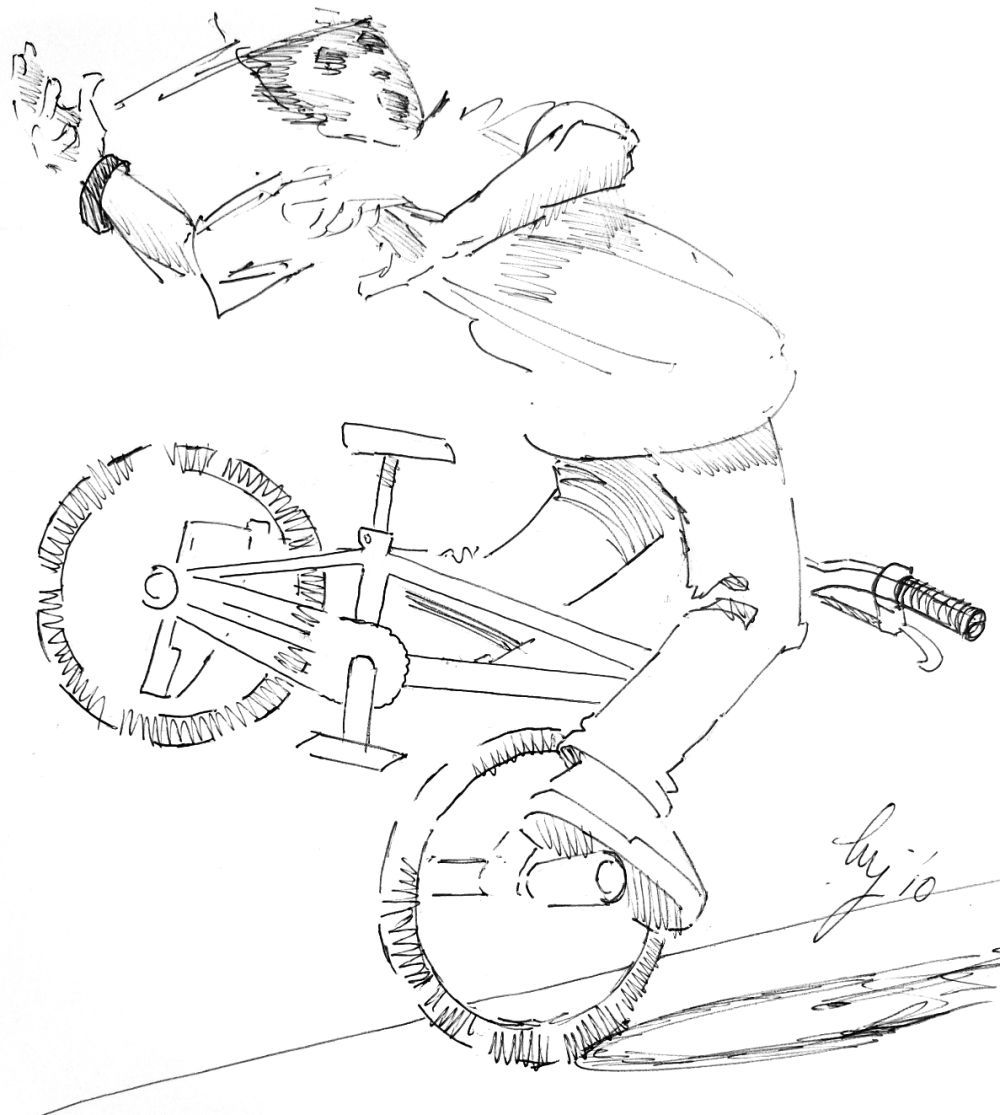 This is a photo of Witty Bmx Coloring Pages