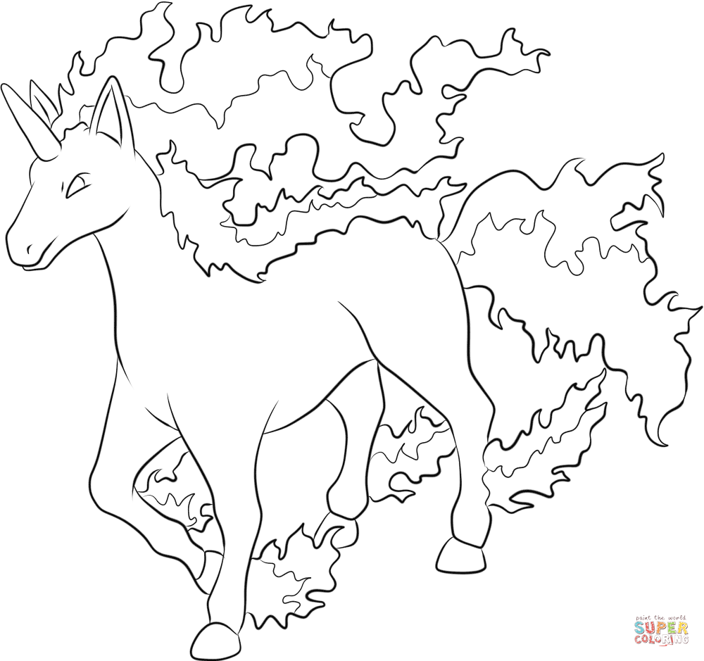 ponyta coloring pages coloring home