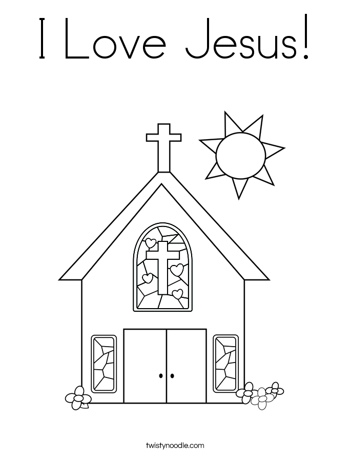 I Love Jesus Coloring Page - Twisty Noodle - Coloring Home