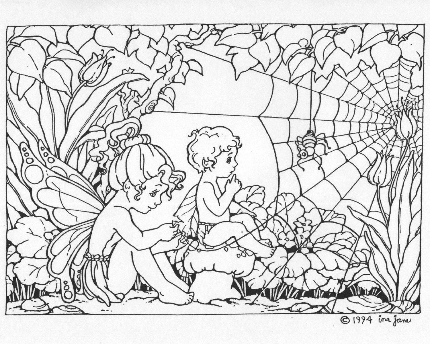coloring activities adults : Printable Fairy Coloring Pages Adults Colorine Net 25411