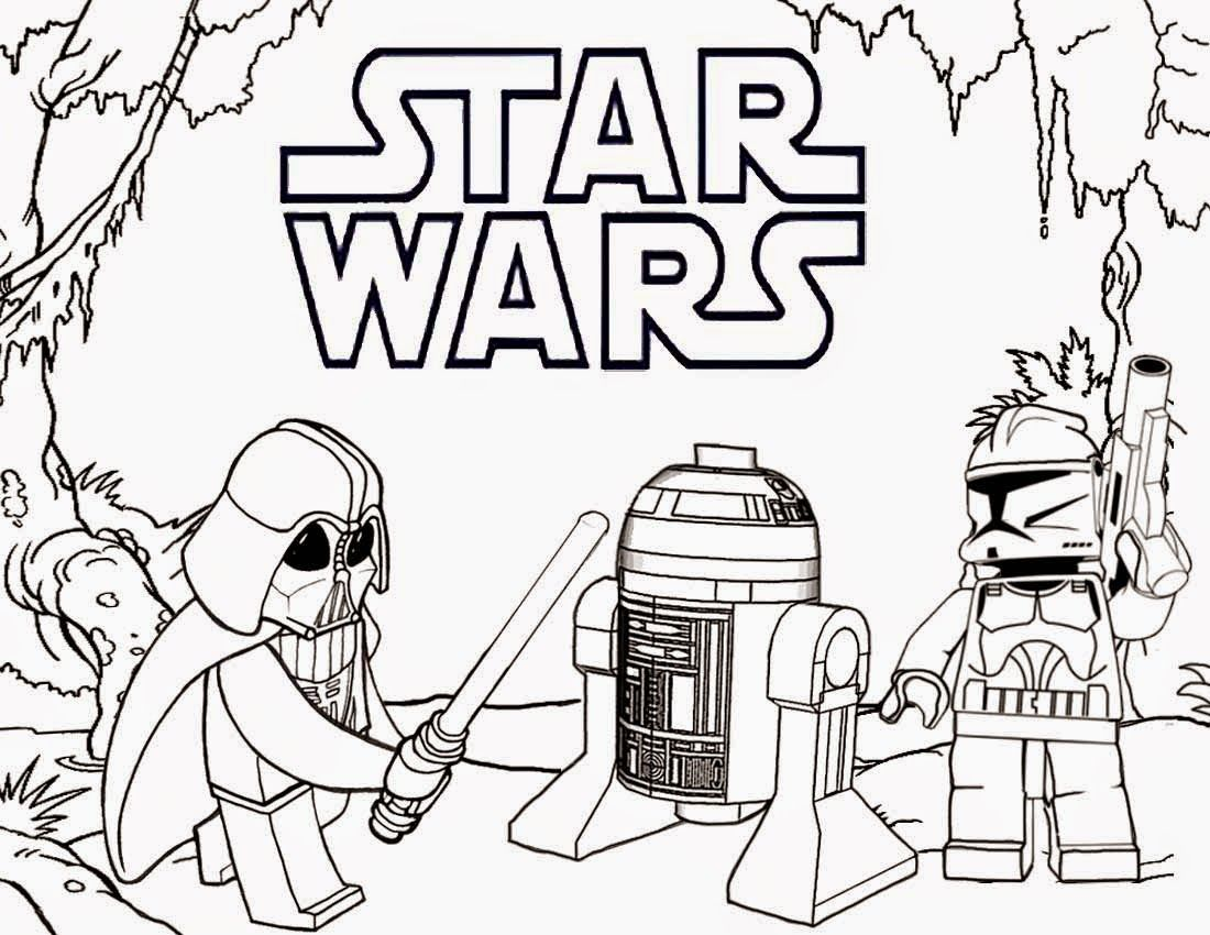 Lego Star Wars Coloring Pages Free Printable Voteforverde