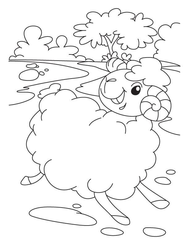 Free Coloring Page Lost Sheep