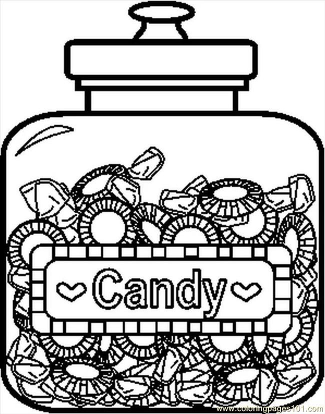 Printable Candy Coloring Pages - Coloring Home
