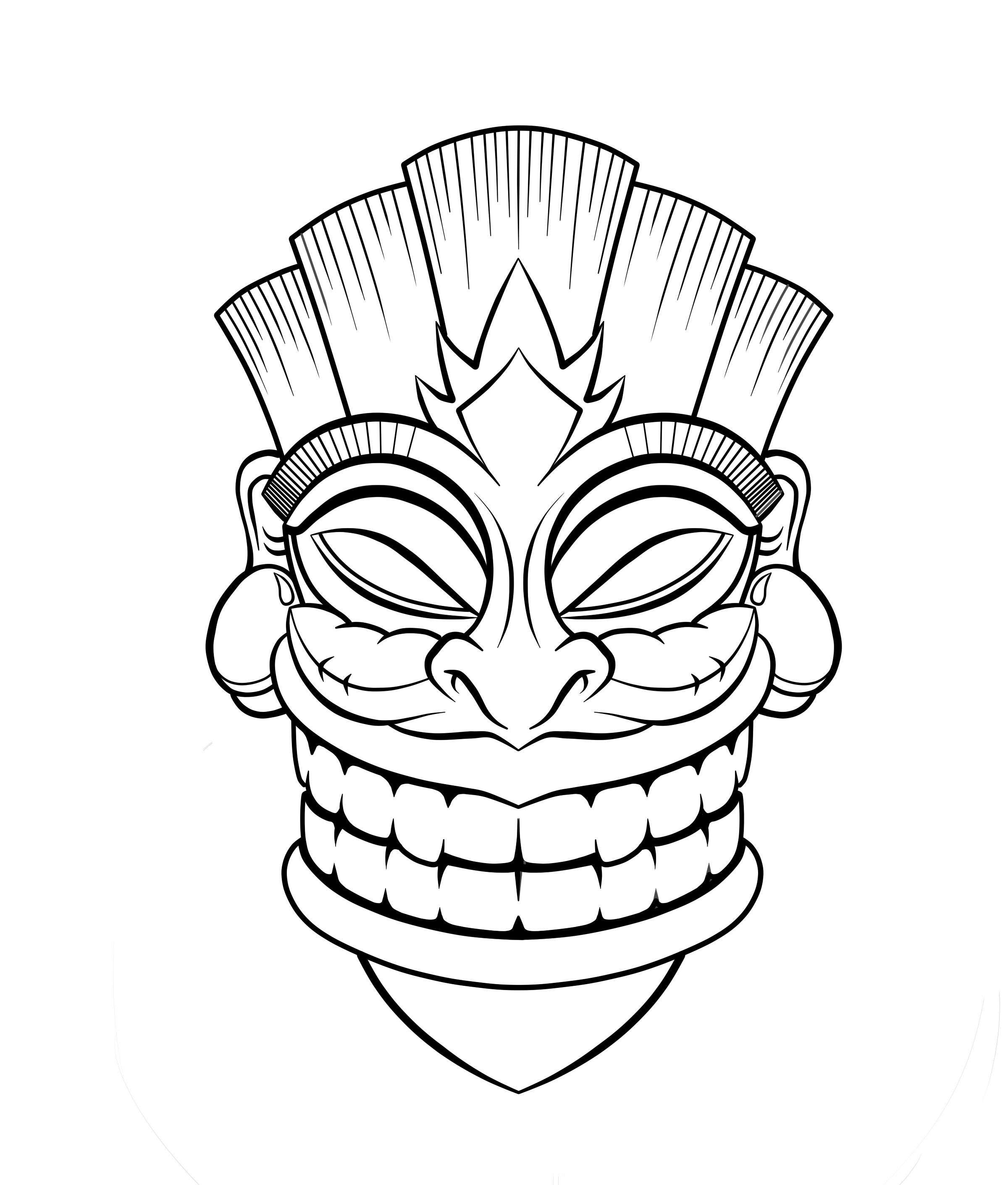 11 Pics Of Tiki Head Coloring Pages Printable Printable Tiki