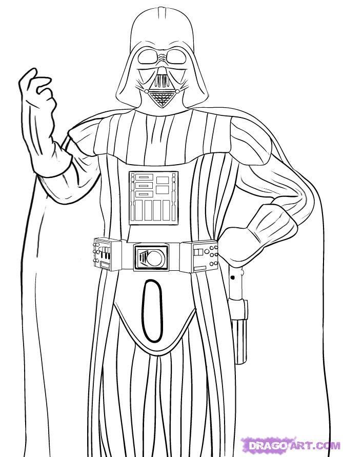 Darth Vader Helmet Coloring Pages