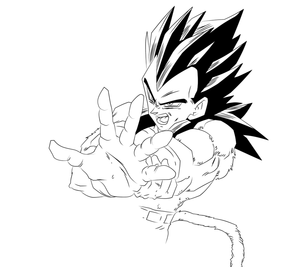Vegeta Ssj4 Coloring Pages Coloring Home Vegeta Saiyan 4 Coloring Pages