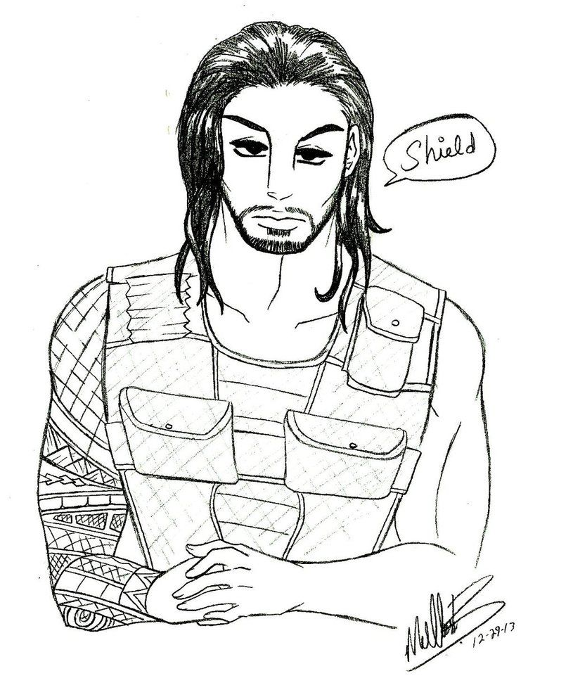 Wwe coloring pages roman reigns coloring home for Wwe wrestlers coloring pages