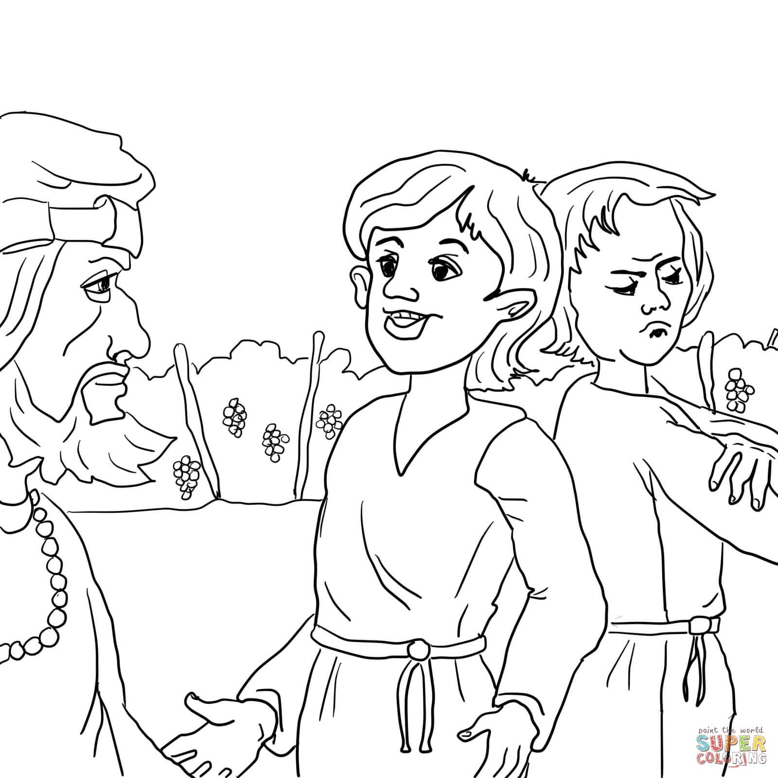 Prodigal Son Coloring Pages Preschool Coloring Home