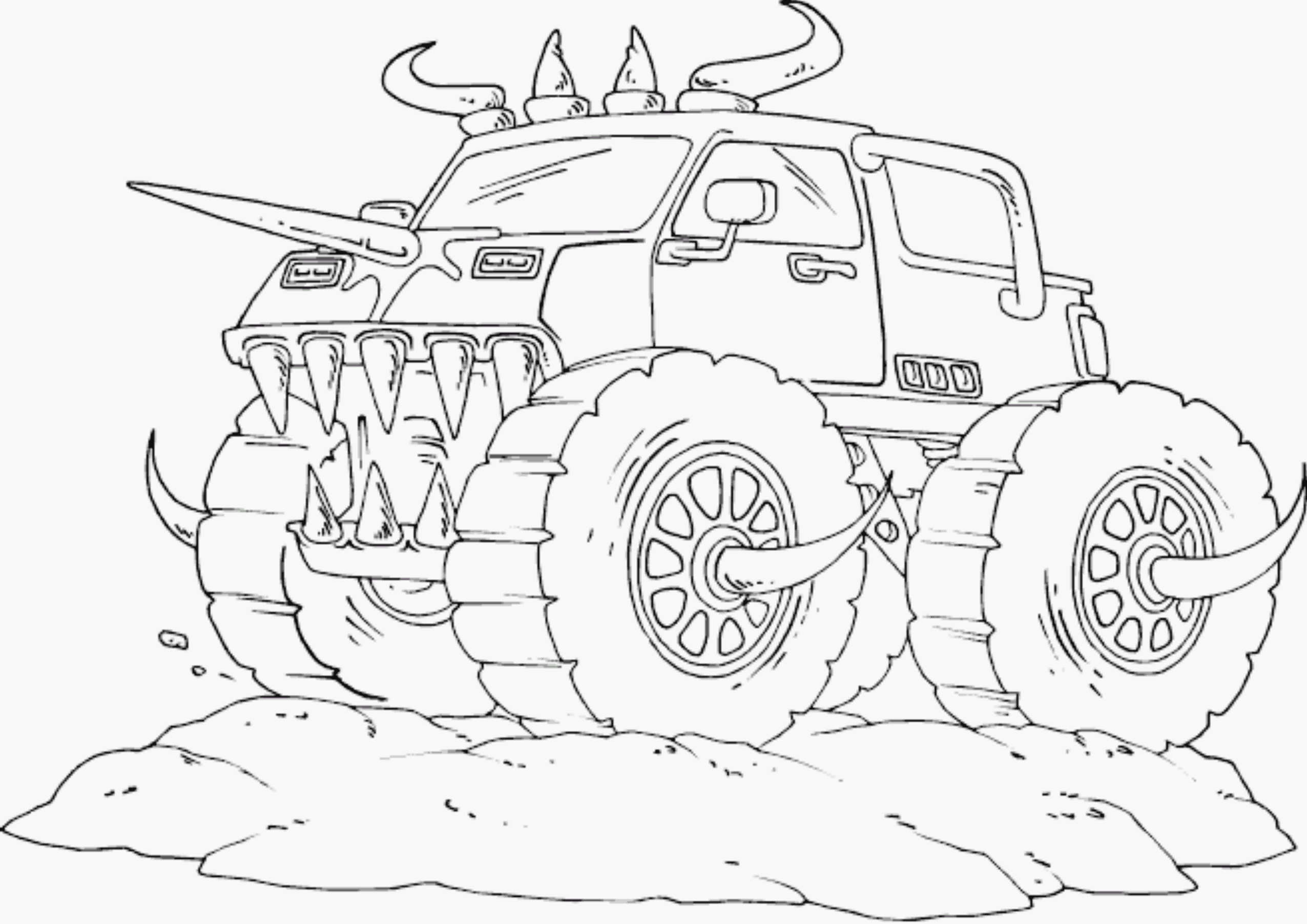 Monster Jam Truck Coloring Pages Printable Printable Kids Coloring Home