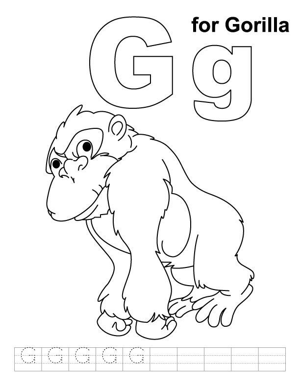 circus gorilla coloring page coloring pages for all ages