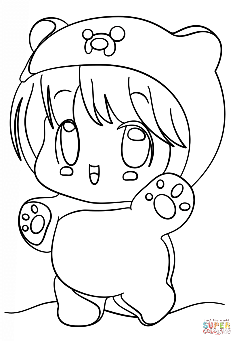 Kawaii Coloring Pages - Bestofcoloring.com