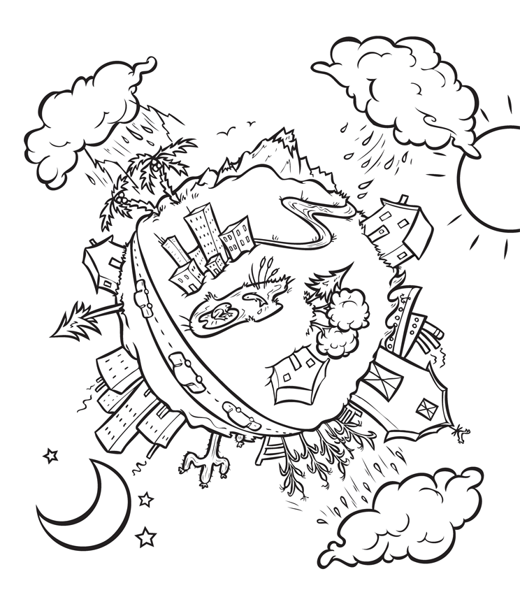 Coloring Pages For Water : Water conservation for kids coloring pages az