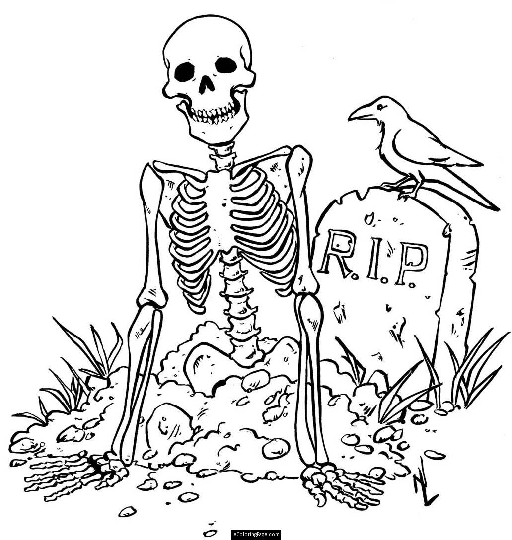 Free Printable Skeleton Coloring Page Latest - Coloring pages