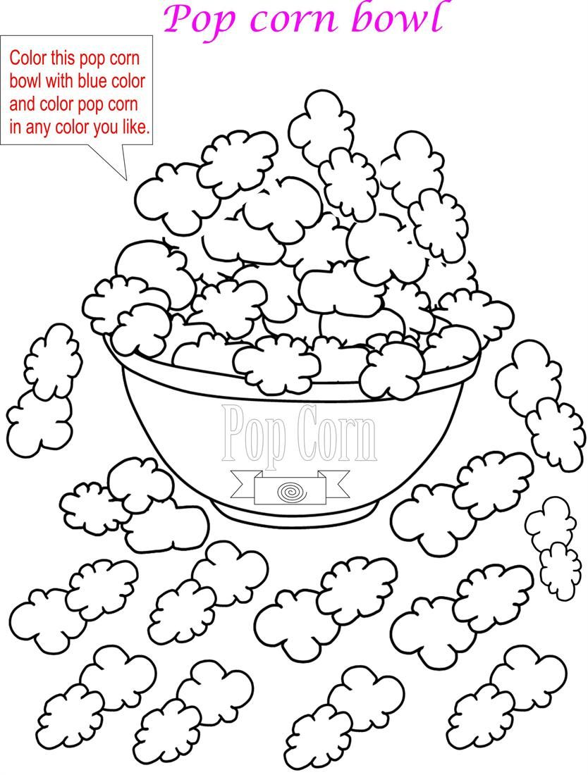 popcorn printable coloring pages - photo#16