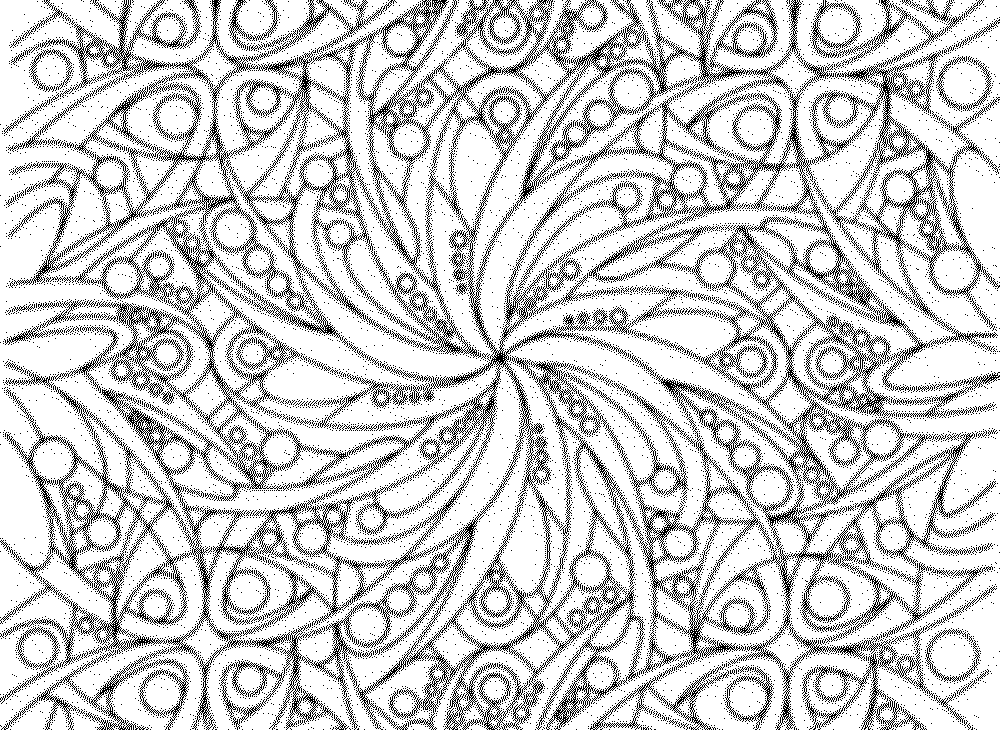 Challenging Printable Coloring