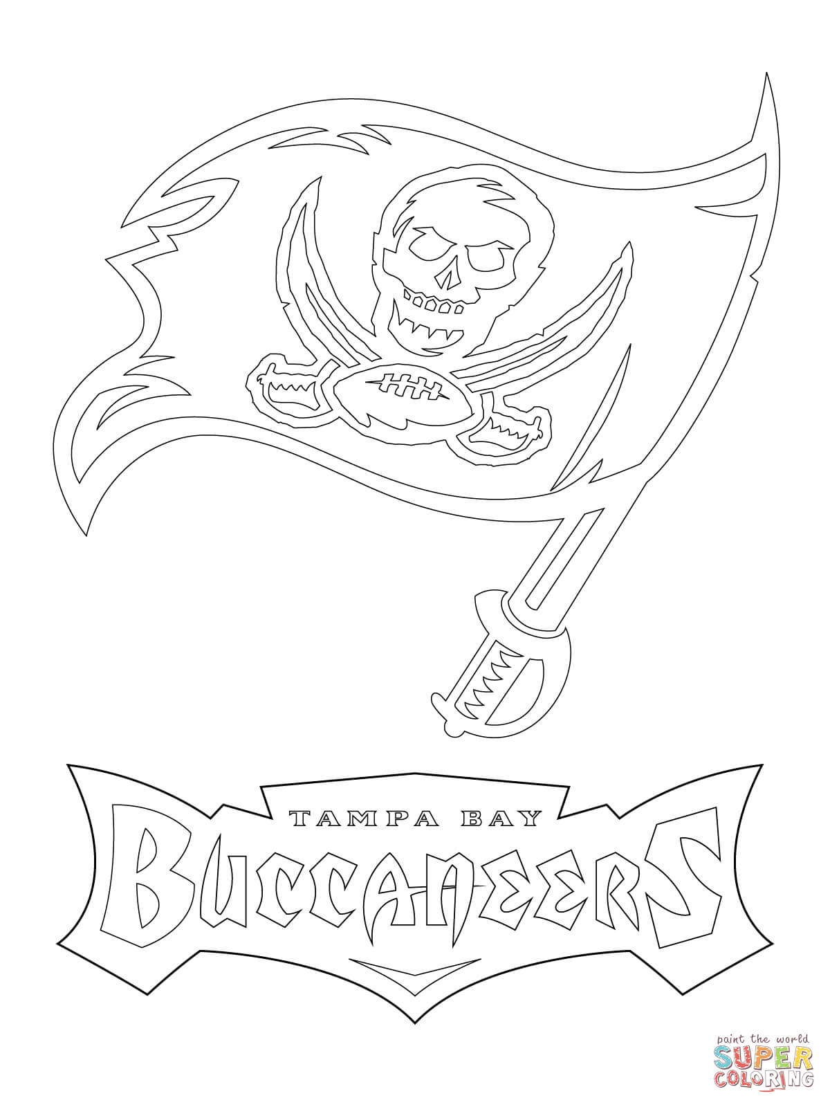 Tampa Bay Buccaneers Logo Coloring Page Free Printable Coloring Coloring Home