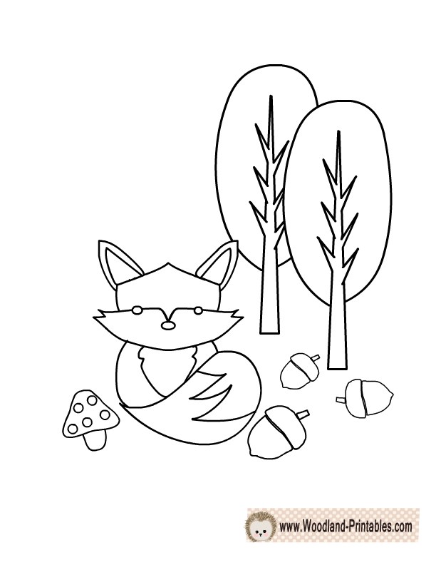 Free Printable Woodland Animals Coloring Pages