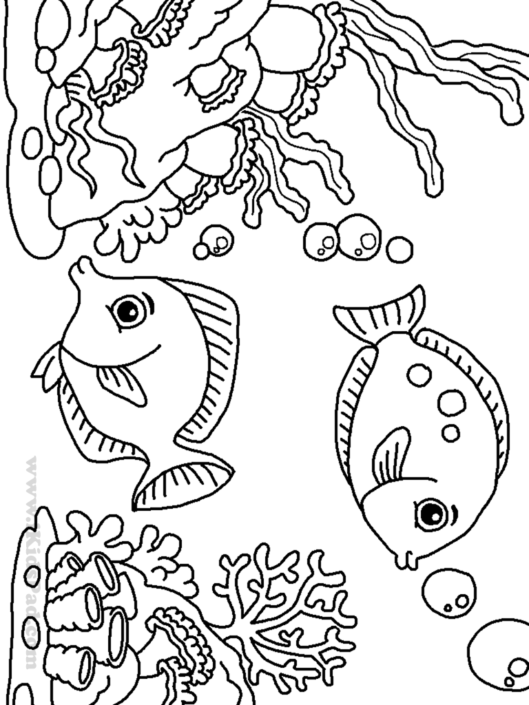 Cartoon Clown Fish Coloring Page - Coloring Pages For All Ages