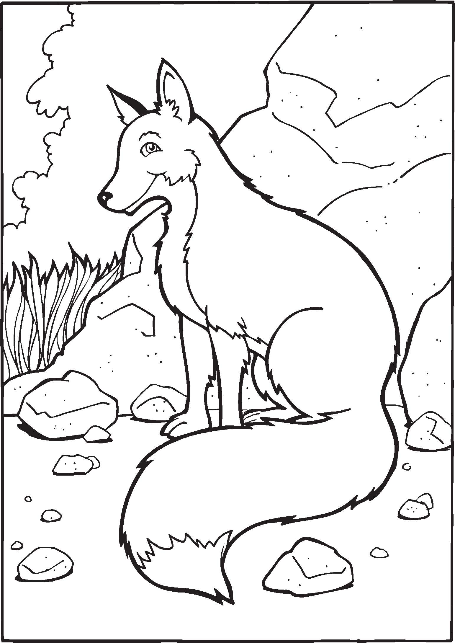 Fox Coloring Page - Coloring Home