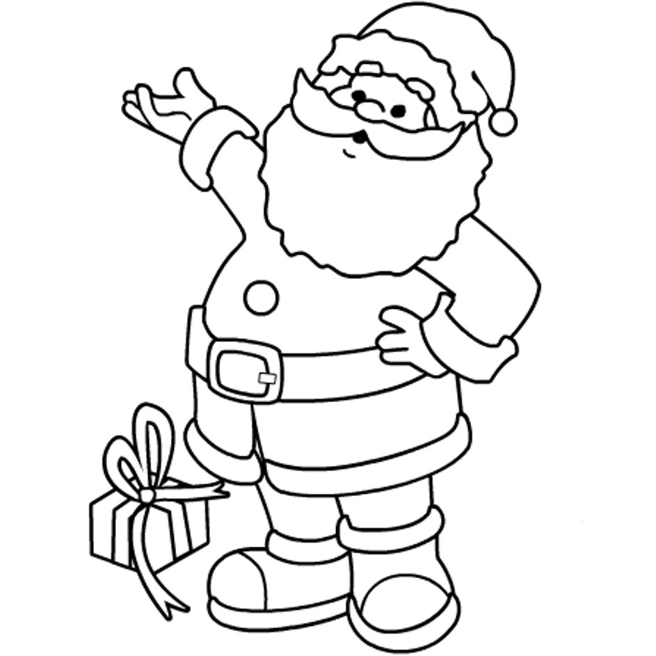 coloring pages with santa - photo#4