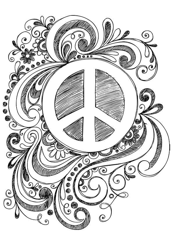 Free Printable Peace Love And Happiness Coloring Pages, Download ... | 842x595