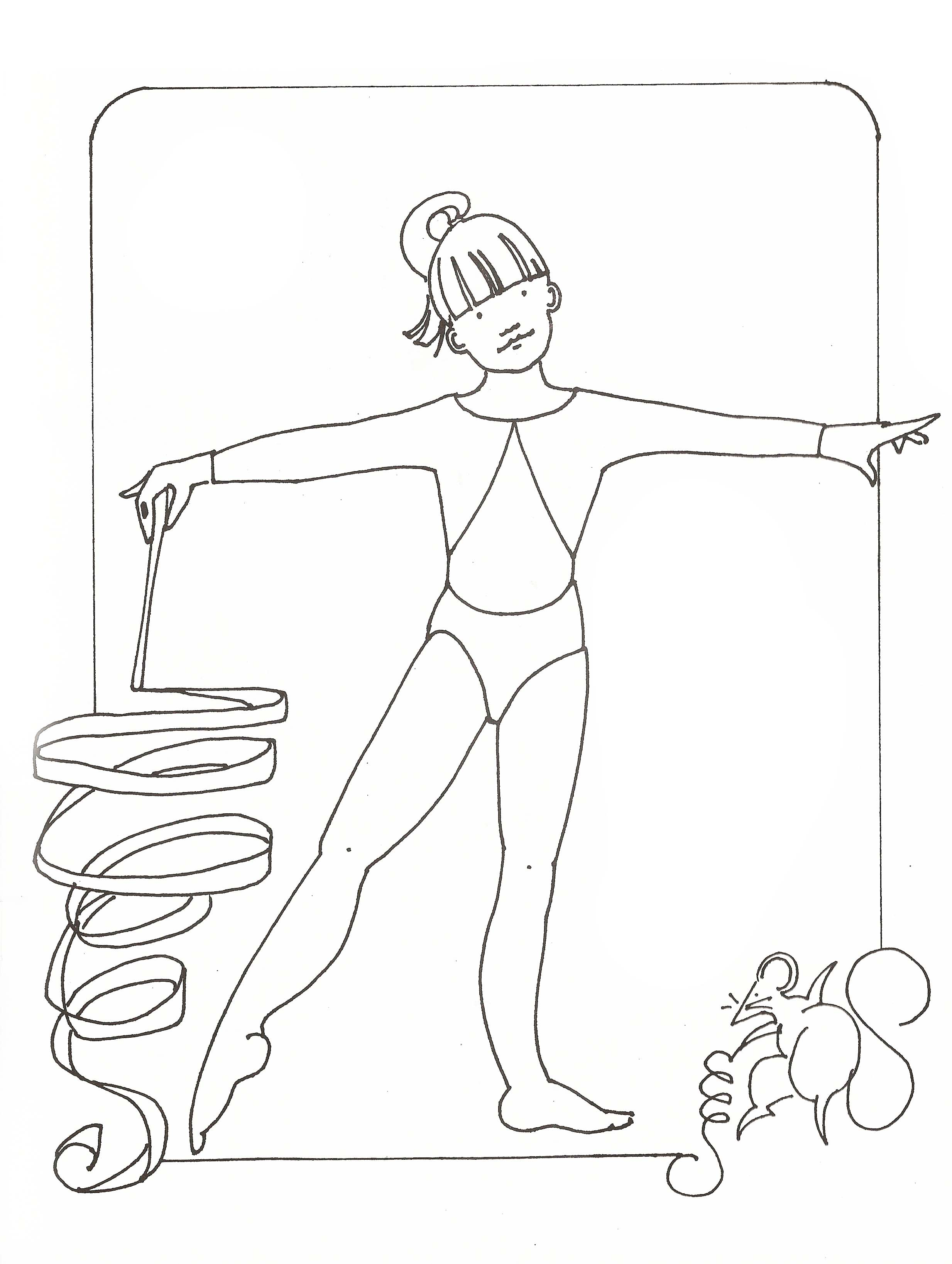 Coloring Pages Of Gymnastics Coloring Home