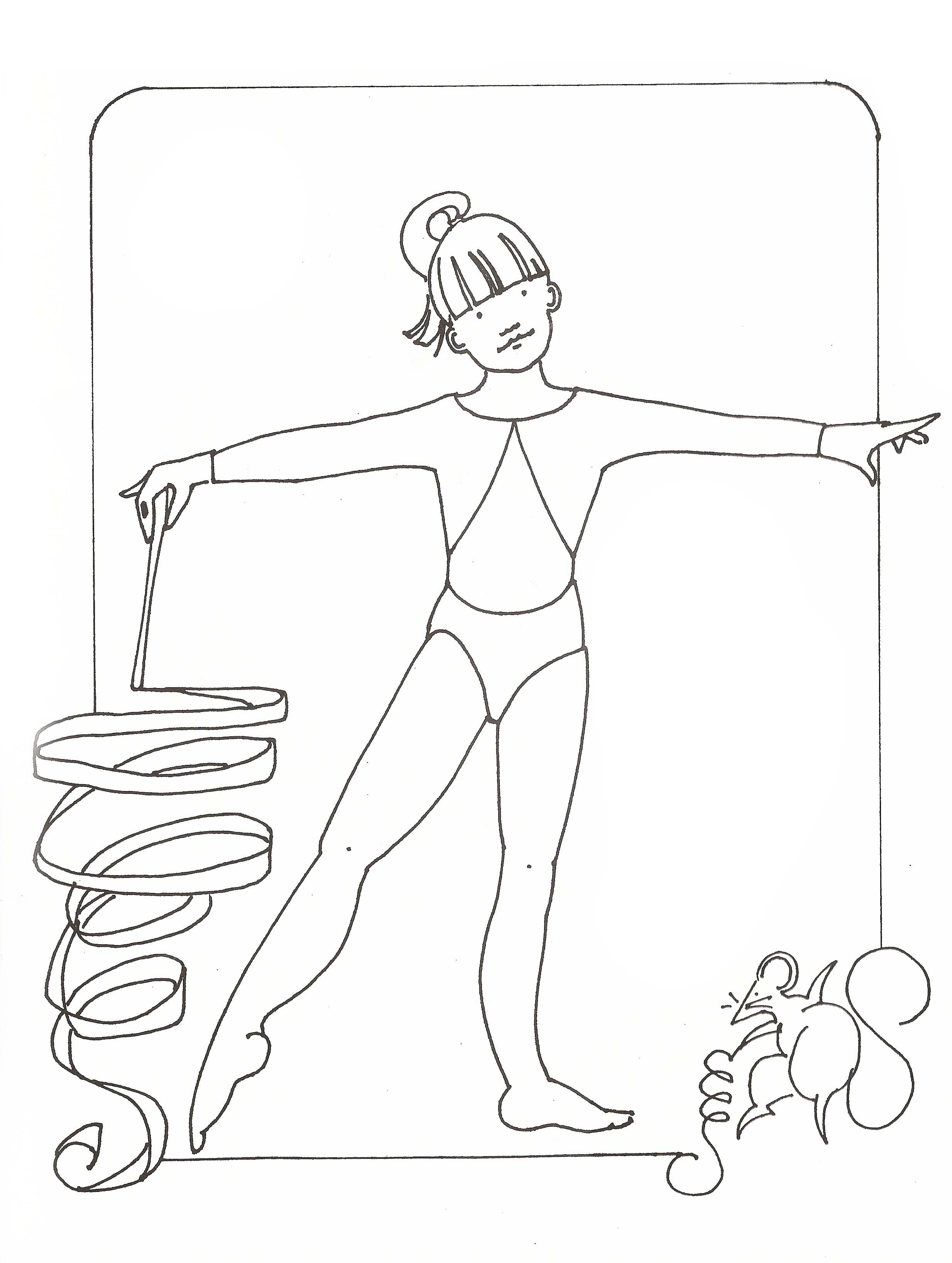 Coloring pictures gymnastics - Barbie Gymnastic Coloring Pages For Girls Coloring Pages For All