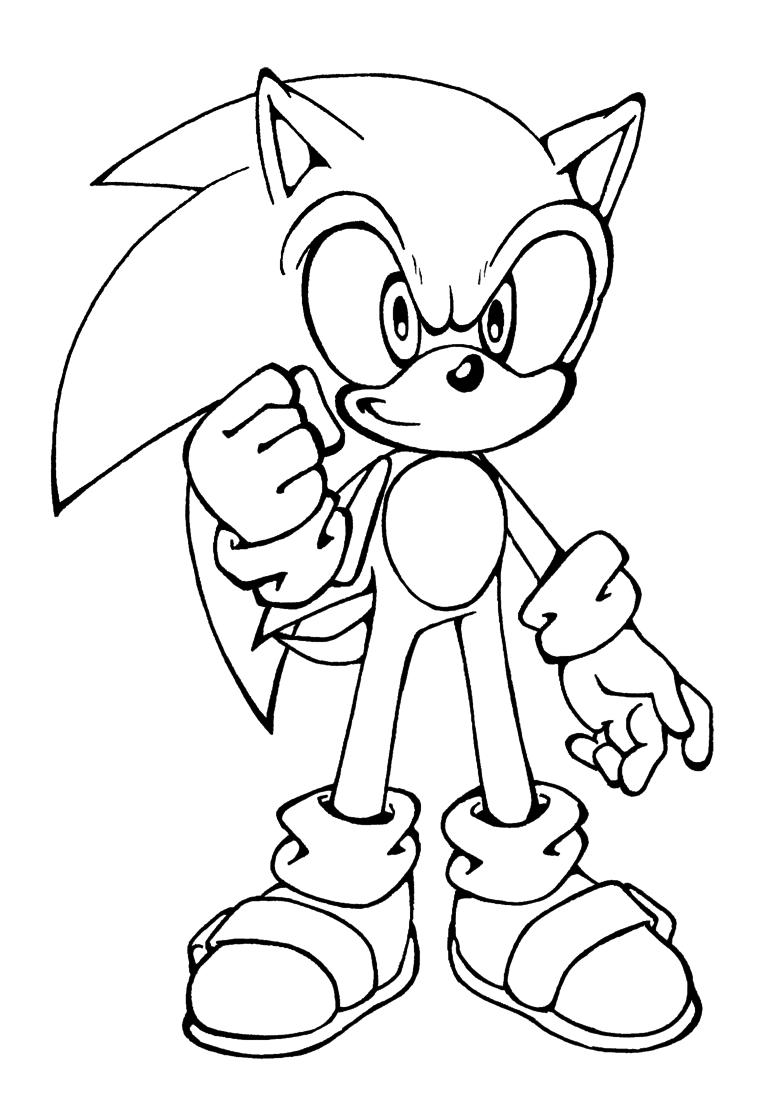 Shadow From Sonic Coloring Page - Coloring Home