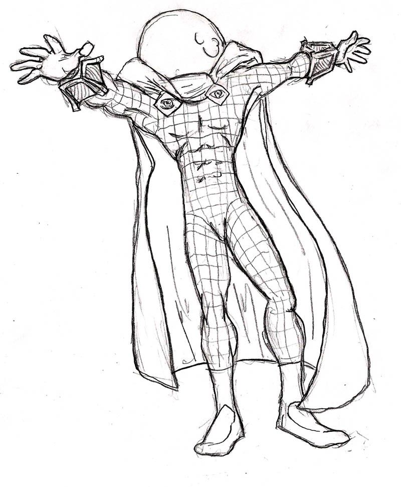 mysterio spiderman coloring pages - photo#10