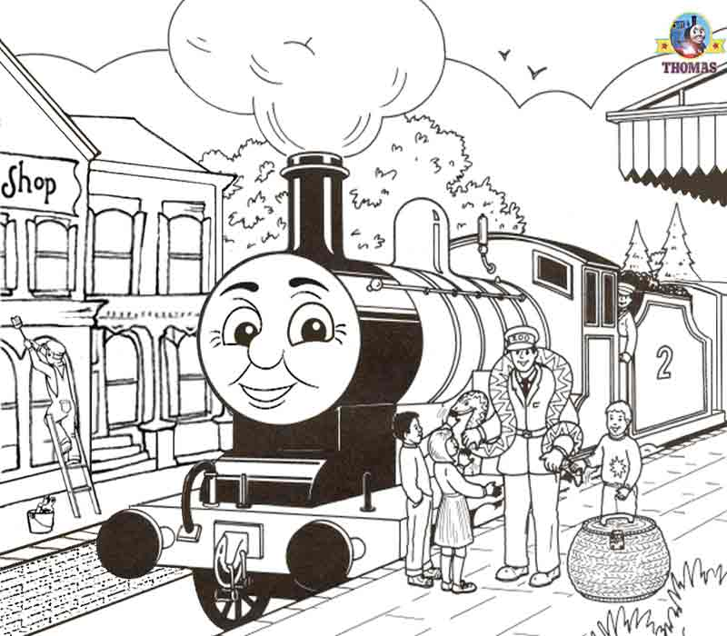 worksheets free printable activities kids coloring pages thomas - Thomas The Train Coloring Book