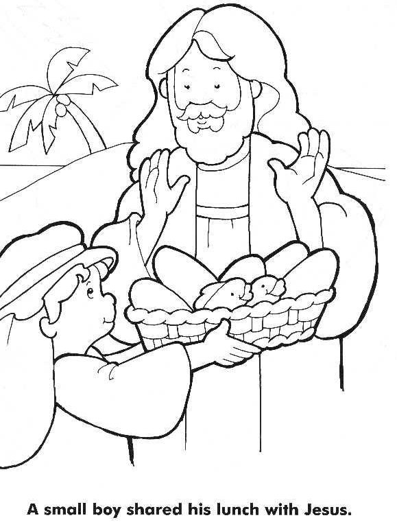 Coloring Pages Jesus Feeds 5000 - Coloring Home