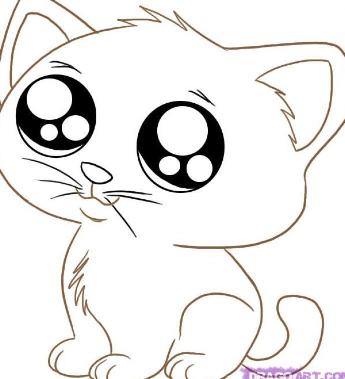 Adorable Cat Coloring Pages - Coloring Pages For All Ages ...